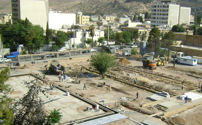 محوطه سازی کتابخانه اسناد ملی فارس